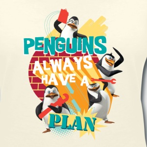 Penguins 'Penguis have a plan' - Women's Organic V-Neck T-Shirt by Stanley & Stella