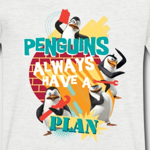 Penguins 'Penguis have a plan' - Men's Organic V-Neck T-Shirt by Stanley & Stella