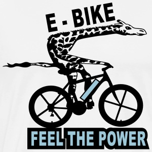 e bike giraffe cycling T-Shirts - Men's Premium T-Shirt