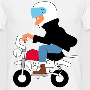 Boy on a  motor bike - Men's T-Shirt