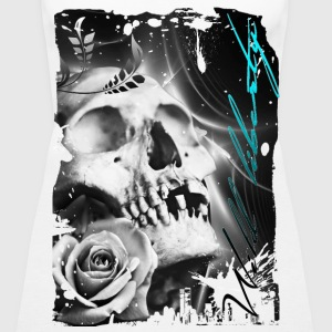rose skull - Frauen Premium Tank Top