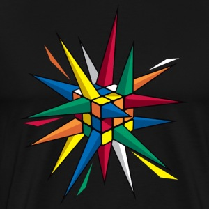 Rubik's Spiky Cube - Men's Premium T-Shirt