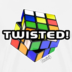 Rubik's Twisted! Cube Unsolved - Men's Premium T-Shirt