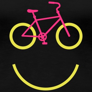 bicycle smiley T-Shirts - Frauen Premium T-Shirt