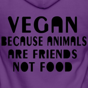 Vegan because animals are friends not food - Frauen Premium Kapuzenjacke