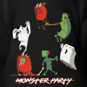 Monster Party - Baby Bio-Kurzarm-Body