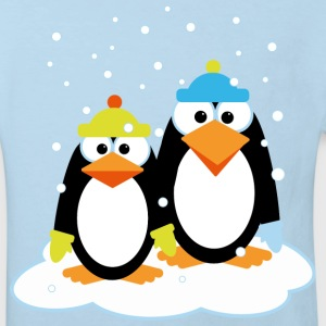 Penguins in snow - Kinderen Bio-T-shirt