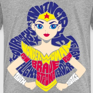 DC Super Hero Girls Wonder Woman Typography - Teenager Premium T-shirt