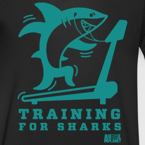 Animal Planet Hai Fitness Training For Sharks - Männer Bio-T-Shirt mit V-Ausschnitt von Stanley & Stella