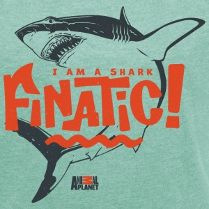 Animal Planet Ocean Humour Shark Finatic - Women's T-shirt with rolled up sleeves