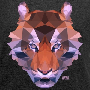 Animal Planet Big Cats Geometrical Tiger - Women's T-shirt with rolled up sleeves