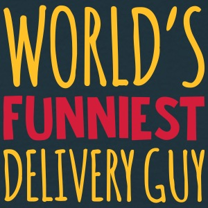 worlds funniest delivery guy - Men's T-Shirt