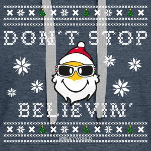 SmileyWorld Christmas Santa Don't Stop Believing - Women's Premium Hoodie