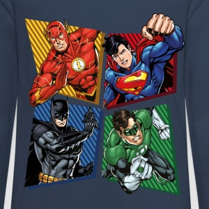 DC Comics Justice League Superheroes Group - Premium langermet T-skjorte for tenåringer