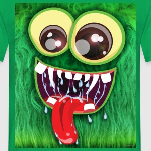 Furry Green Monster - Men's T-Shirt