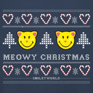 SmileyWorld Noël Chat Meowy Christmas - T-shirt manches longues Premium Enfant