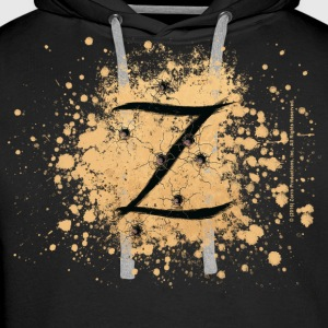 Zorro The Hero's Trademark Letter Z Initial - Men's Premium Hoodie