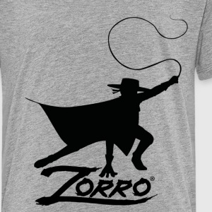 Zorro The Chronicles Silhouette With Whip - Teenage Premium T-Shirt