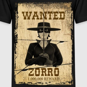 Zorro The Chronicles Wanted Poster - Camiseta premium niño