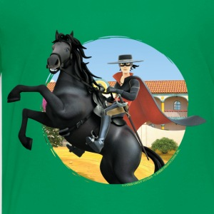 Zorro The Chronicles Riding Horse Tornado - Teenage Premium T-Shirt
