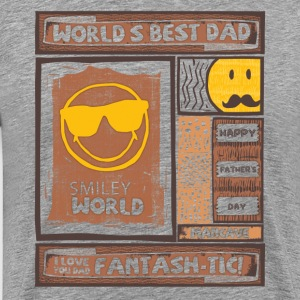 SmileyWorld World's Best Dad - Miesten premium t-paita