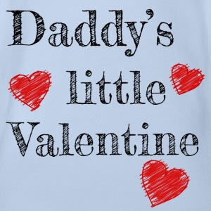 Valentine's Day Daddy's Little Valentine - Organic Short-sleeved Baby Bodysuit