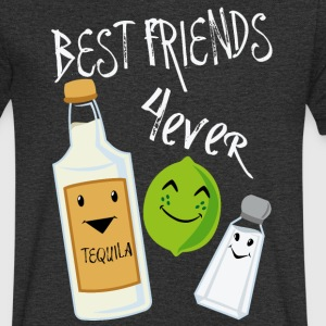 Best Friends Forever Tequila Lime Salt Humour - Men's Organic V-Neck T-Shirt by Stanley & Stella