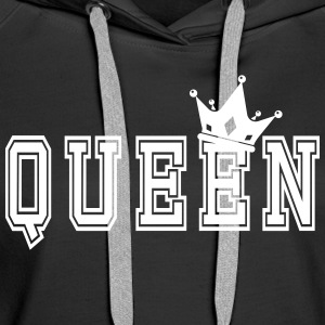 Valentine's Matching Couples Queen Jersey - Premium hettegenser for kvinner