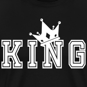 Valentine's Matching Couples King Crown Jersey - Miesten premium t-paita