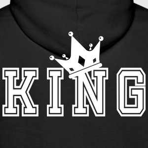 Valentine's Matching Couples King Crown Jersey - Mannen Premium hoodie