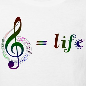 Music = life - Kinder Bio-T-Shirt