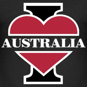 I love Australia T-Shirts - Männer Slim Fit T-Shirt