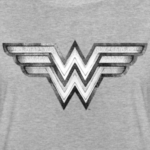 DC Comics Wonder Woman Logo Pencil Drawing - Oversize T-skjorte for kvinner