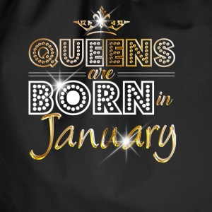January - Queen - Birthday - 2 Bags & Backpacks - Drawstring Bag