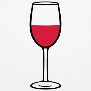 Wine glass Topper - Premium singlet for kvinner