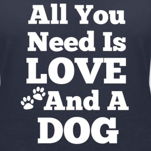 All u need is love+a dog T-Shirts - Frauen Bio-T-Shirt mit V-Ausschnitt von Stanley & Stella
