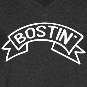 Bostin' Birmingham Dialect T-Shirts - Men's Organic V-Neck T-Shirt by Stanley & Stella