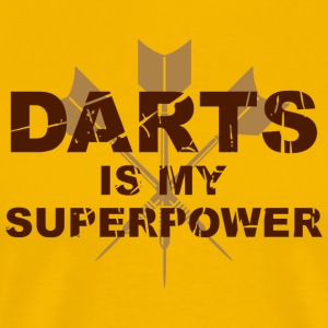 Darts is my superpower  T-Shirts - Männer Premium T-Shirt