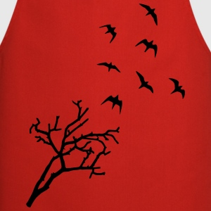 Tree and Birds, Freedom - oiseaux Tabliers - Tablier de cuisine
