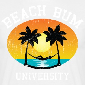Beach Bum University | Palm - Sunset - Hammock T-Shirts - Männer T-Shirt