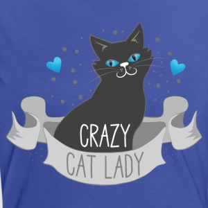crazy cat lady banner T-Shirts - Women's Ringer T-Shirt