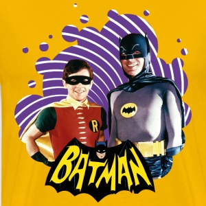 DC Comics Batman Robin Dynamic Duo Actors - Mannen Premium T-shirt