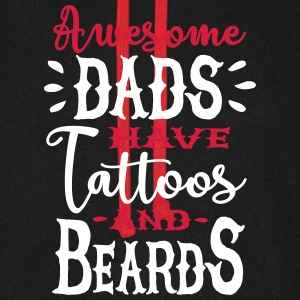 Awesome dads have tattoos and beards 2 clr Sweatshirts - Unisex baseball hoodie