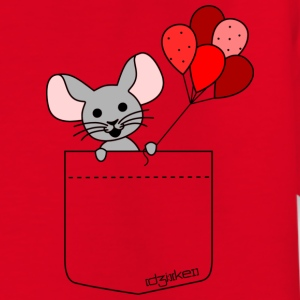 pocket friend - mouse with red balloons T-Shirts - Kinder T-Shirt