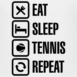 Eat Sleep Tennis Repeat Tee shirts - T-shirt Premium Ado