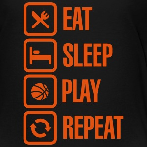 Eat Sleep Basketball Repeat Paidat - Teinien premium t-paita