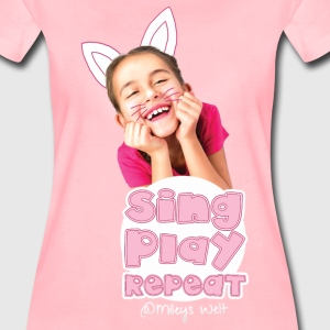 Mileys World Sing Play Repeat Spruch - Frauen Premium T-Shirt