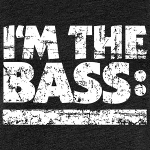 I'M THE BASS Vintage White Line T-Shirts - Frauen Premium T-Shirt