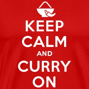 Keep calm and curry on T-shirts - Mannen Premium T-shirt