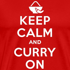 Keep calm and curry on T-Shirts - Männer Premium T-Shirt